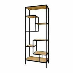 Jeha Home Collection Bookcase Iron Wood Deluxe