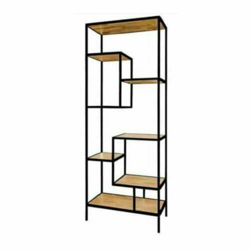 Bookcase Iron Wood Deluxe bij Jeha de Meubelconcurrent