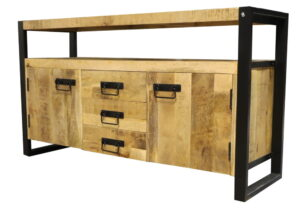 Jeha Home Collection Dressoir Iron Wood Deluxe – 145 cm – Mangohout