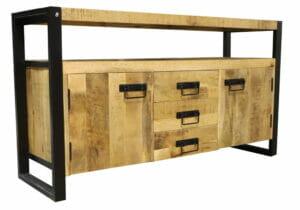 Jeha Home Collection Dressoir Iron Wood Deluxe – 145 cm – Mangohout