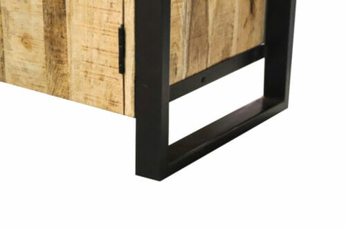 Dressoir Iron Wood Deluxe - 175 cm - Mangohout bij Jeha de Meubelconcurrent