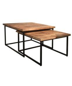 Salontafel, Iron Wood Deluxe (Set van 2)