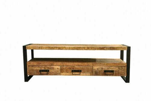 Tv-Meubel Iron Wood Deluxe - 160 cm - Mangohout bij Jeha de Meubelconcurrent