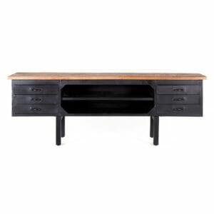 TV meubel Industrieel - 4 laden bij Jeha de Meubelconcurrent