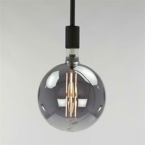 Lichtbron LED Bol - 8W 2700K 200lm - Dimbaar - Smokey Grey bij Jeha de Meubelconcurrent