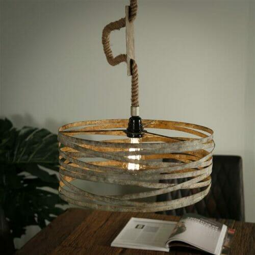 Hanglamp Twist Touw - 1 lamp bij Jeha de Meubelconcurrent