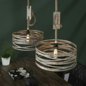 Rich Home Hanglamp Twist Touw – 2 lampen