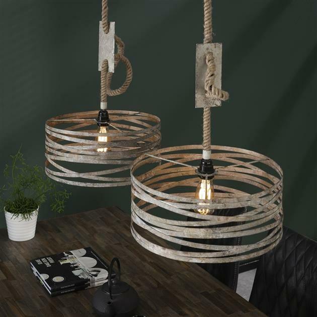 Hanglamp Met Touw.Hanglamp Twist Touw 2 Lampen