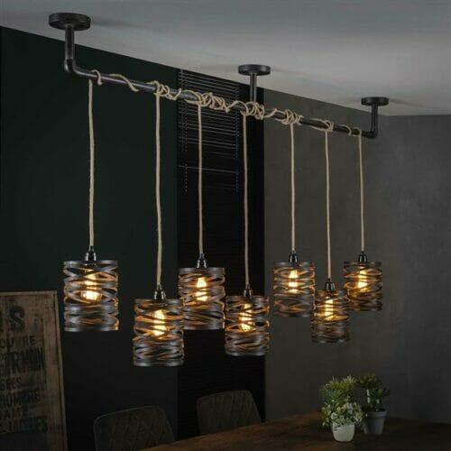Hanglamp Twist - 7 lampen bij Jeha de Meubelconcurrent