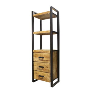 Jeha Home Collection Boekenkast Iron Wood Deluxe – Met 3 lades