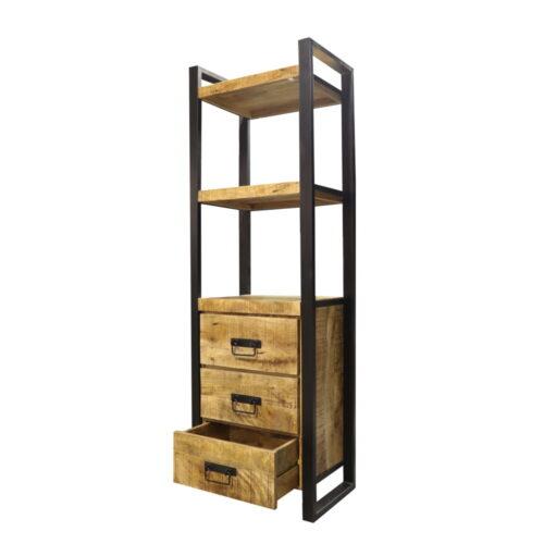 Boekenkast Iron Wood Deluxe - Met 3 lades bij Jeha de Meubelconcurrent