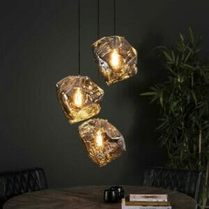 Rich Home Hanglamp Diamond -3 lampen  Getrapt