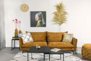 Style your Home Bank Madelon – 2.5 zits – Goud