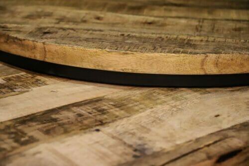Driedelige Salontafelset Iron Wood Deluxe Rond - Mangohout bij Jeha de Meubelconcurrent