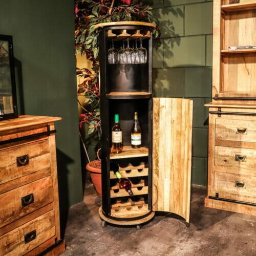 Wijnkast Mangohout Deluxe bij Jeha de Meubelconcurrent