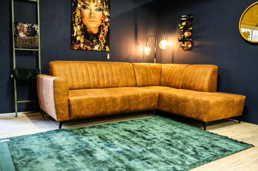 "<span class=""brand_prefix"">Jeha Home Collection</span> Hoekbank Miranda – Cognac – Hoek Rechts"