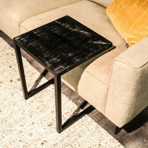 Laptoptafel Iron Wood Deluxe - Mangohout Zwart bij Jeha de Meubelconcurrent