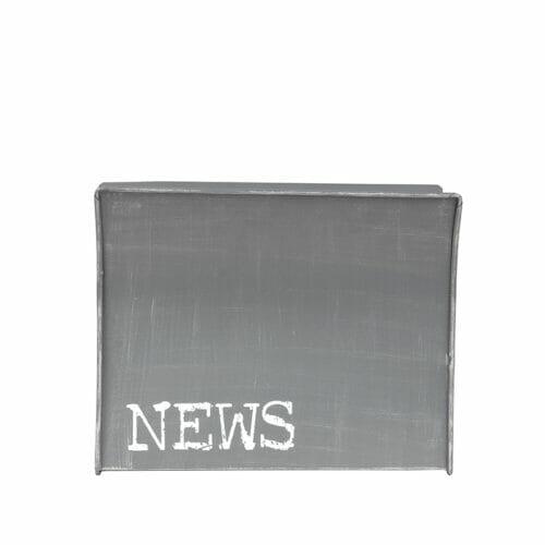 Wanddecoratie Magazinehouder - Antiek grijs - Metaal bij Jeha de Meubelconcurrent